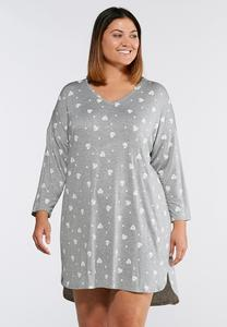 Plus Size Heart Sleep Shirt