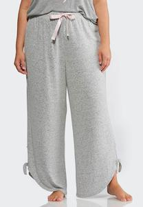 Plus Size Hacci Side Tie Sleep Pants