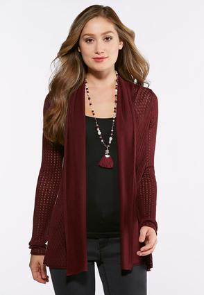 Plus Size Mix Stitch Cardigan Sweater at Cato in Brooklyn, NY   Tuggl
