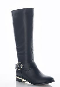 Wide Width Stretch Back Riding Boots