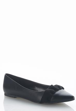 Ruffle Faux Leather Flats | Tuggl