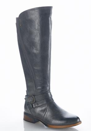 Buckle Strap Riding Boots