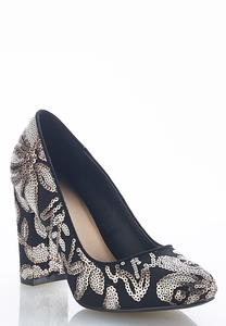 Sequin Embellished Pumps