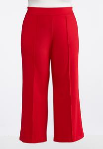 Plus Size Wide Leg Ponte Pants