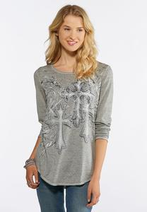 Embellished Cross Tee