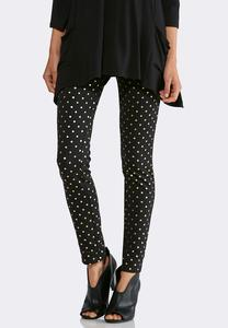 Foiled Dotted Leggings