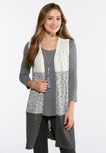 Ombre Pointelle Sweater Vest