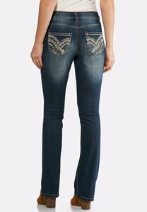 Petite Two-Tone Stitch Jeans