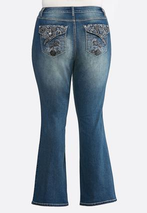 Plus Size Stitch And Stone Embellished Jeans