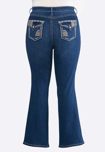 Plus Petite Colorful Stitch Bootcut Jeans