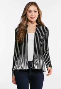 Black And White Sweater Jacket