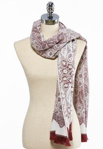 Lace Patterned Oblong Scarf