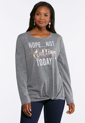 Plus Size Not Adulting Graphic Tee