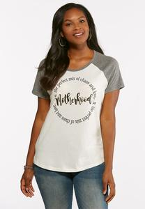 Plus Size Motherhood Baseball Tee