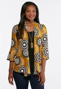 Layered Puff Print Top