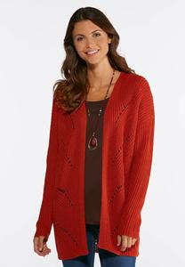 Lace Up Back Cardigan Sweater