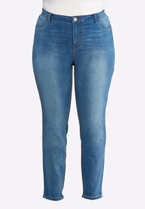 Plus Size Medium Wash Jeggings