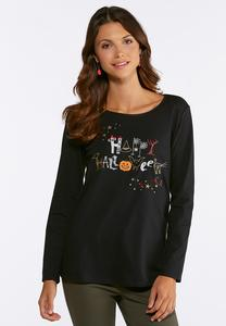 Plus Size Happy Halloween Tee