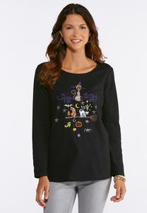 Plus Size Halloween Cats Tee