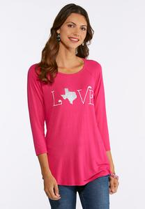 Texas Love Swing Top