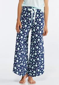 Polka Dot Tie Side Sleep Pants