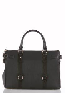 Harness Strap Structured Satchel