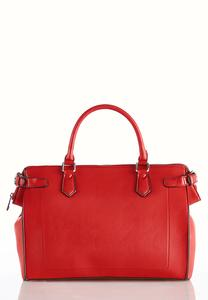 Oversized Red Structured Satchel
