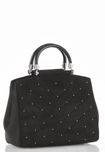 Pin Stud Quilted Satchel