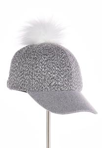 Pom Tweed Baseball Hat