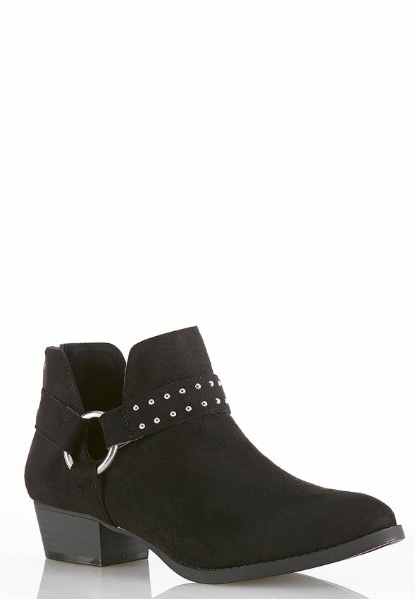 b4d3bf3c3cd2 Wide Width Dip Side Hardware Ankle Boots Ankle   Shooties Cato Fashions