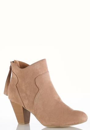 Wide Width Cone Heel Ankle Boots