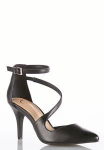 Asymmetrical Strappy Pumps
