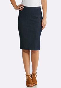 Stretch Denim Woven Skirt