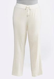 Plus Size Oatmeal Fleece Pants