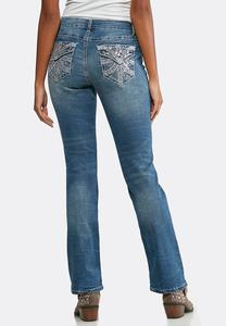 Embellished Pocket Bootcut Jeans