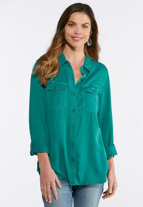 Soft Woven Button Down Shirt