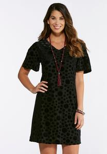 Velvet Dotted Dress