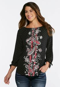 Dotted Paisley Top