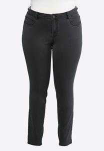 Plus Size Dark Gray Jeggings