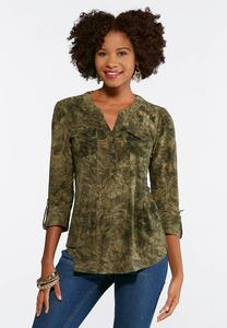 Seamed Scroll Stitch Popover Top