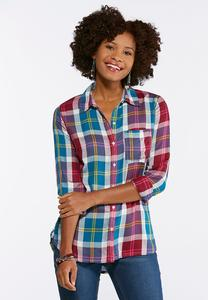 Berry Blue Plaid Tunic