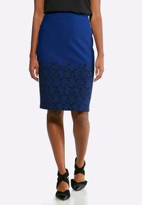 Jacquard Floral Pencil Skirt