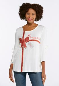 Plus Size All Wrapped Up Bell Sleeve Top