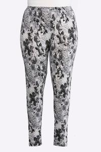 Plus Size Rose Noir Leggings