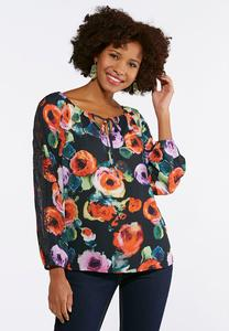 Lace Floral Poet Top