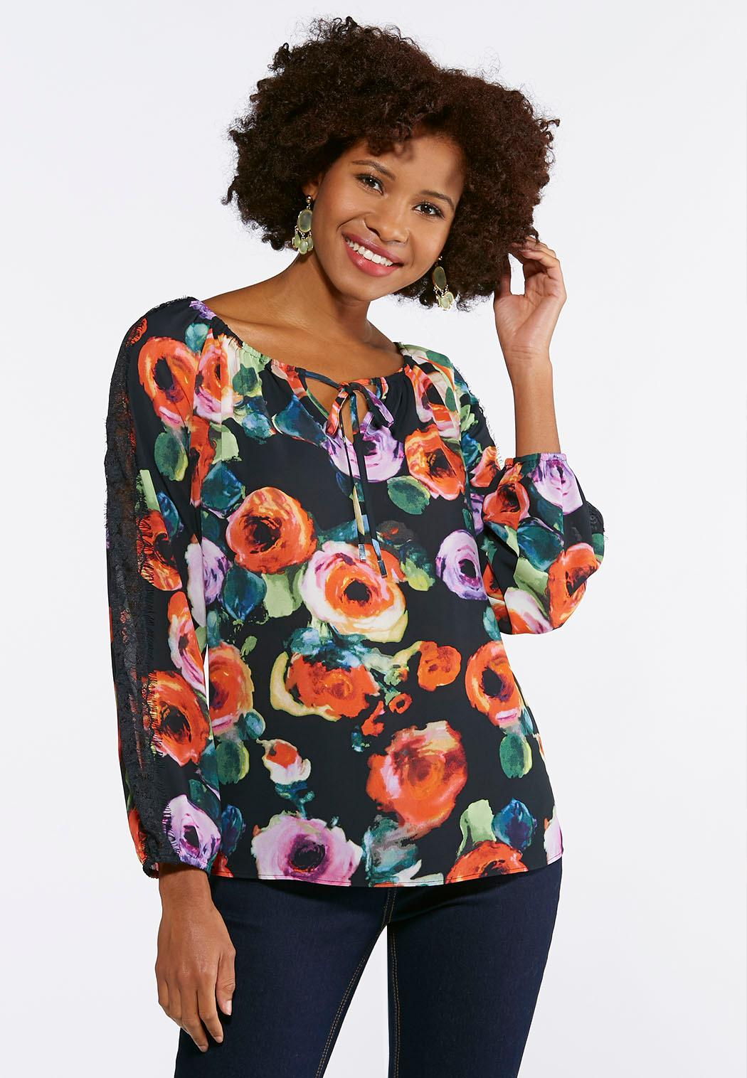 Plus Size Lace Floral Poet Top Tops Cato Fashions - What is a business invoice plus size clothing stores online