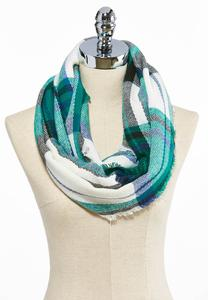 Cozy Plaid Infinity Scarf