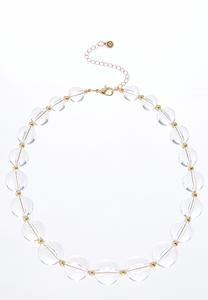 Lucite Ball Necklace