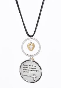 Matthew Scripture Cord Pendant Necklace