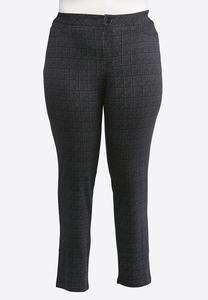 Plus Size Petite Plaid 5 Pocket Leggings